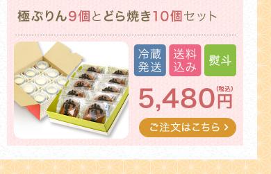 極ぷりん9個とどら焼き10個セット