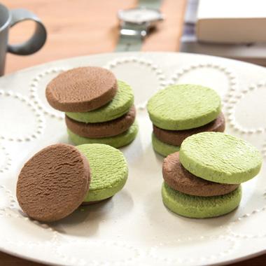 生チョコクッキー2個入(抹茶・チョコ)