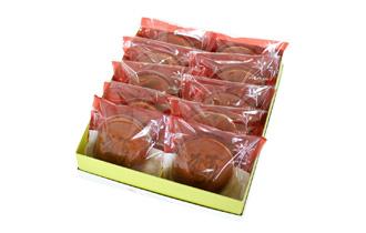 鶴亀 焼き印 どら焼き 10個入 ギフトパッケージ