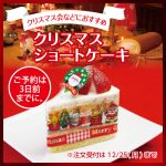 【クリスマス限定】クリスマスショートケーキ、クリスマスカップ、クリスマスシフォンケーキなど…