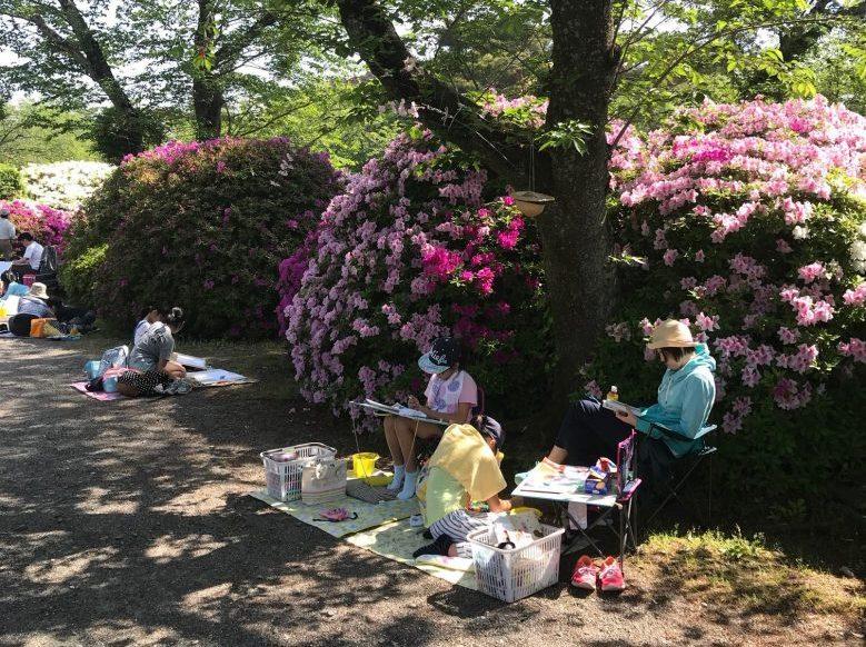 第69回親子写生大会つつじ公園